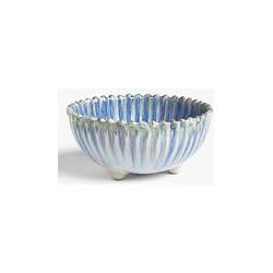 John Lewis & Partners Shore Bowl, 15.4cm, Blue/White