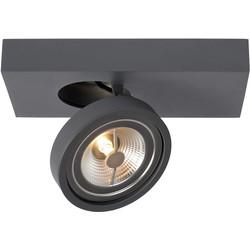 Lucide NENAD AR111 - Plafondspot LED Dimbaar - 1x10W 2700K - Grijs