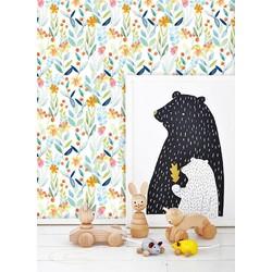 Zelfklevend behang Kinderkamer bloemen  122x122 cm