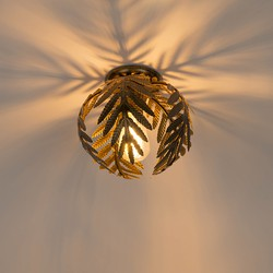 Vintage Ceiling Lamp Leaf Small Gold - Botanica