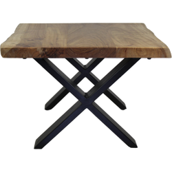 Salontafel SoHo - 50 cm - acacia/ijzer - powdercoated black