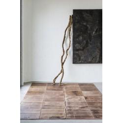 Massimo Leather Rug brown - 180 x 240 cm