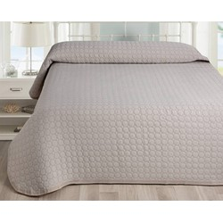 Nightsrest Bedsprei Lucia Taupe Maat: 230x260cm