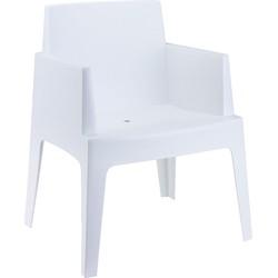 24Designs Box Tuinstoel - Kunststof - Wit