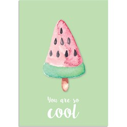 You are so cool poster - IJsje - Tekst poster - Wanddecoratie - Groen