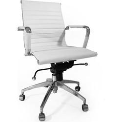 Leren design bureaustoel Soho wit