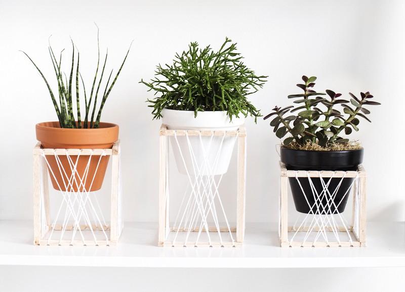 DIY: minimalistische plantenhouders