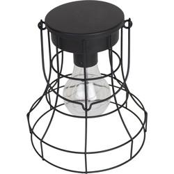 LED Lantaarn Lamp-14x16cm-Metaal-Zwart-Housevitamin