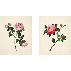 ixxi John Reeves Muurdecoratie Set van 2 - Two Flowers