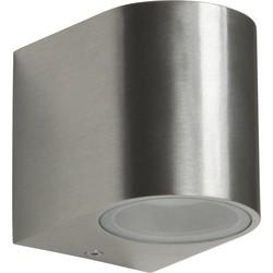 Ranex LED Wandlamp voor Buiten 3W Geborsteld Aluminium, Halfrond, GU10 Fitting