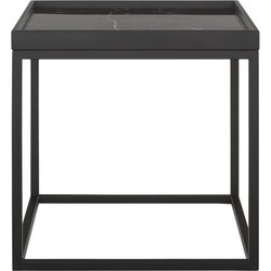 24Designs Tray Salontafel Small - 50x50x50 - Marmerlook Zwart