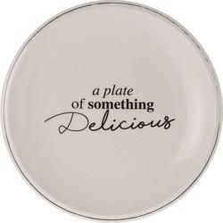Dinerbord Delicious white