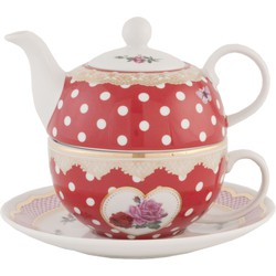 Clayre & Eef Tea for one 16x16x14 cm / 0,4L