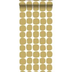 ESTAhome behang grafisch motief okergeel en wit
