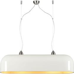 Hanglamp Halong bamboe ovaal, wit