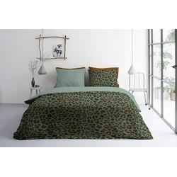 Dekbedovertrek Lazy Leopard Groen, 240x220 +20+2x60x70