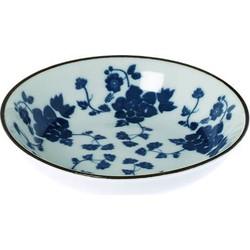 Schaaltje Floral blauw 10cm
