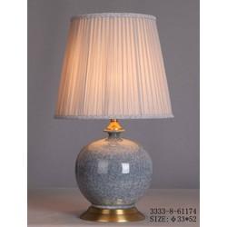 Fine Asianliving Fine Asianliving Oosterse Tafellamp Porselein Craquelle Grijs