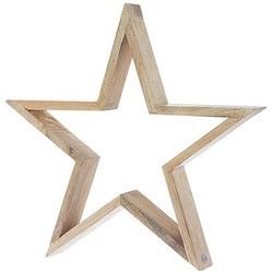 Riverdale Bright Brandy Deco Star Naturel Hout - 50 cm