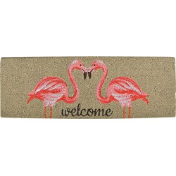 Esschert Design Deurmat Kokos - Flamingo