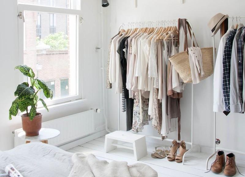 Bedwelming Inspiratie: kledingrek in de slaapkamer - Alles om van je huis je @XO57