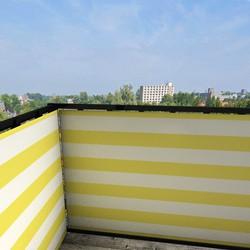 Balkonafscheiding gestreept geel (150x90cm Enkelzijdig)