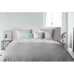 Elegance Dekbedovertrek Hotel Kwaliteit Satijn Streep - licht grijs (Licht Grijs, 240x200/220)