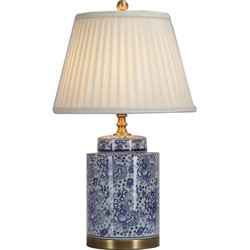 Fine Asianliving Fine Asianliving Oosterse Tafellamp Porselein Blauw Wit Art