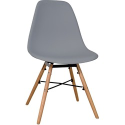 Aemely set van 4 stoelen - grijs
