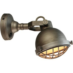 LABEL51 - Wandlamp Cas 14x25x17 cm - Industrieel - Grijs