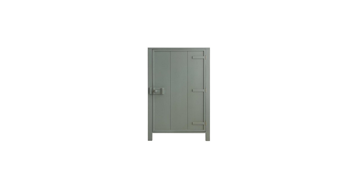 HKliving Wandkast Hout 81 x 122 cm - Army Green
