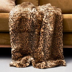Rivièra Maison Leopard Faux Fur Throw