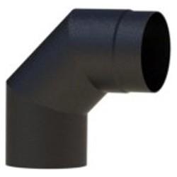 Burni BAS11 schoorsteen 90° 2mm - zwart
