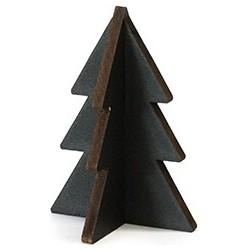 Villa Madelief Houten kerstboompje zwart hout 9cm
