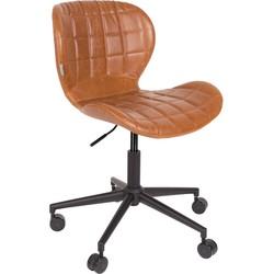 Zuiver bureaustoel OMG PU leder bruin 76 - 88 x 65 x 65