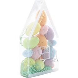 Cosy & Trendy Paasei mix van kleuren & grootte - 18 delig